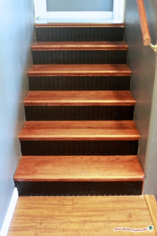 From Carpet To Hardwood Stair Makeover Using Tread Caps