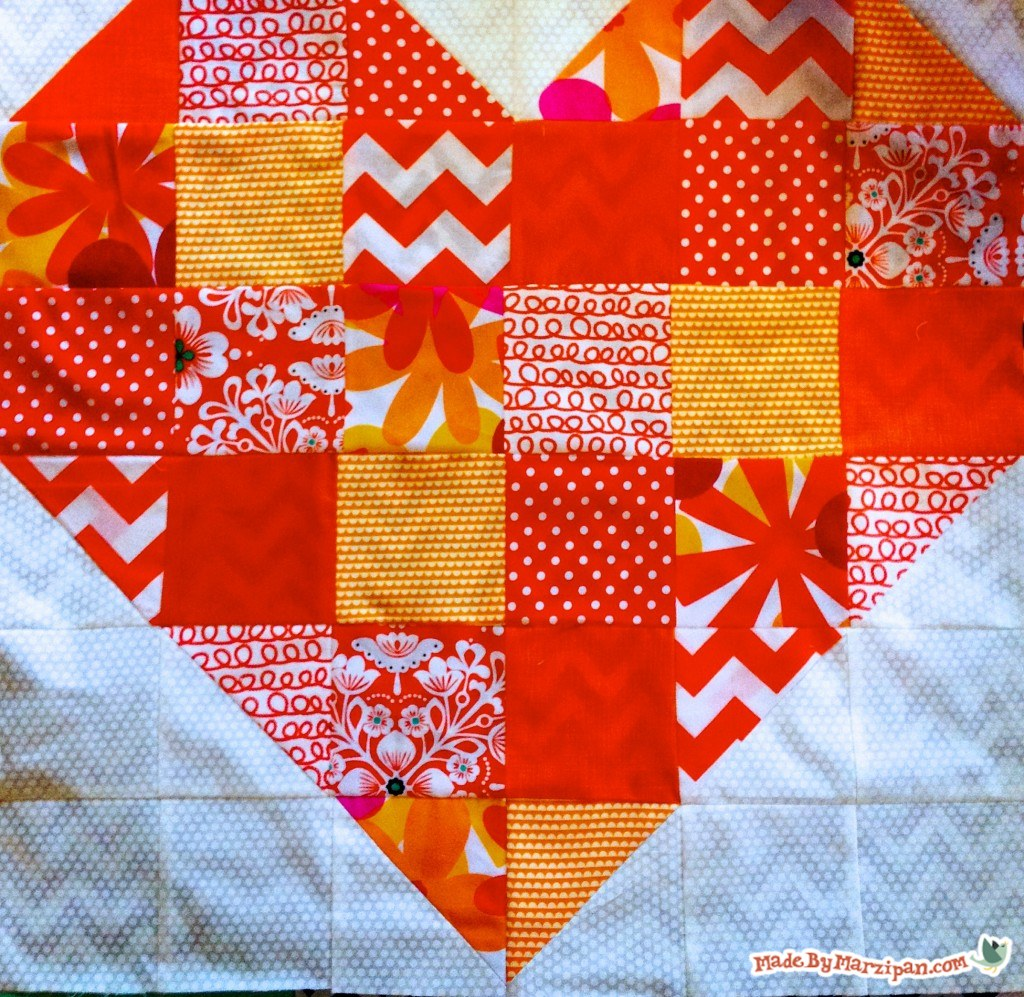 Free Heart Quilt Pattern Made By Marzipan