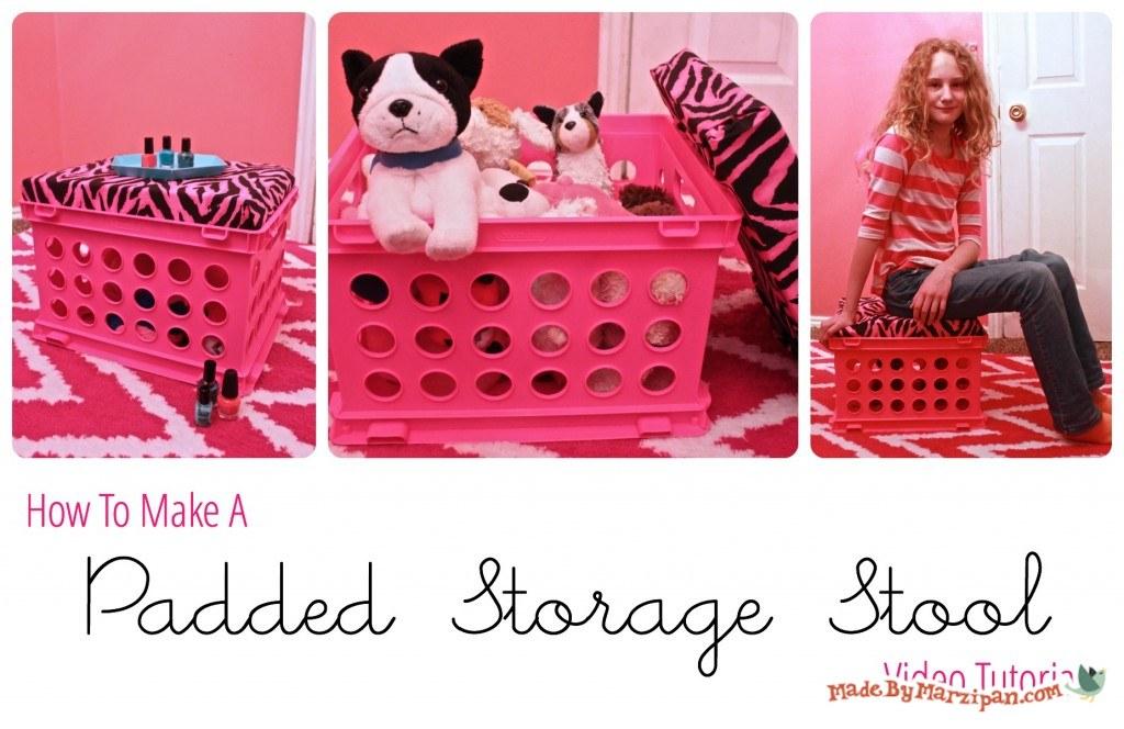 sc 1 st  MadeByMarzipan & DIY Padded Storage Stool