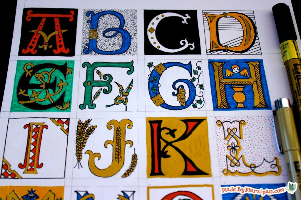 Illuminated Lettering - Made By Marzipan on